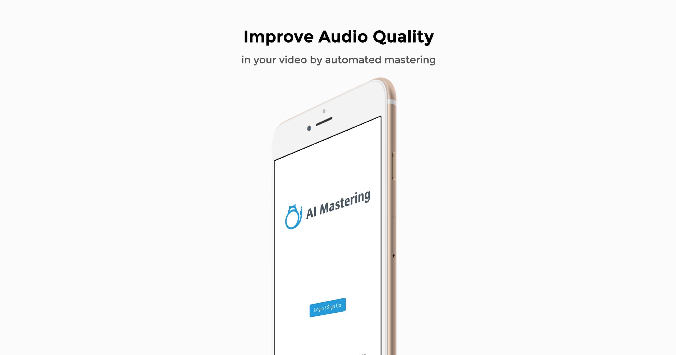 我们发布了一个应用程序来增加智能手机拍摄的电影的音量和音质!